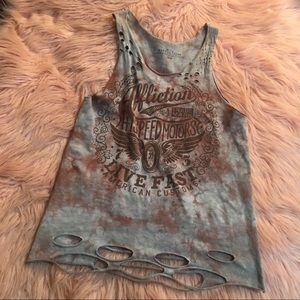 Affliction ~ Cut Up Tank